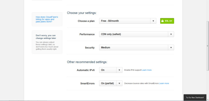 Step 4: choose your settings. Make sure you select the free option – it'll try and make you purchase one – and then use the default settings.